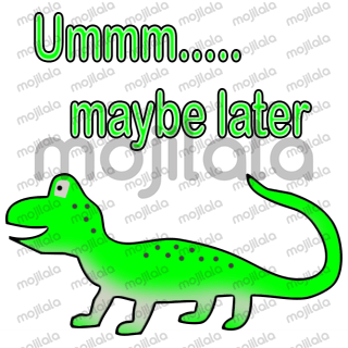 Say it with a sticker when you don't want to.  This pack features sarcastic and funny  talking lizard.  He's charming too!
