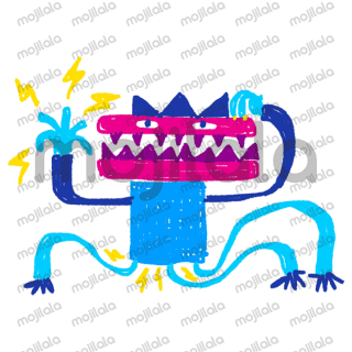 Colourful crayon style monsters to colour conversations.