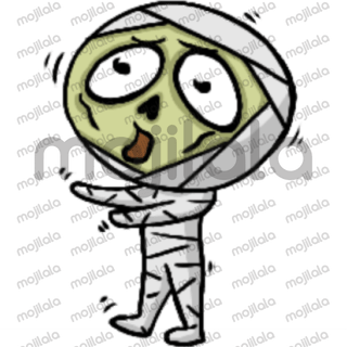 Cute Mummy cartoon emoji