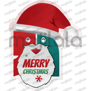 These are two cool social aves logo character having fun on Christmas and New Year 2017