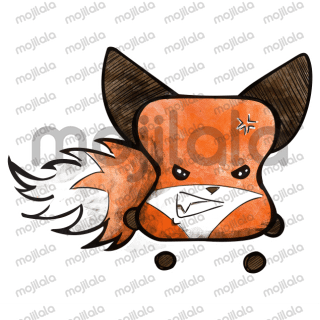 Cute marshmallow fox character