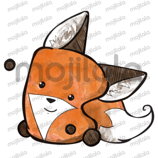 Cute marshmallow fox character
