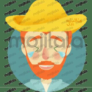 Vincent Van Gogh emoticon