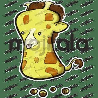 Cute giraffe marshmallow character