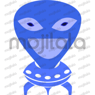 A cute alien guy, visiting us sometimes, caught into the human realm, and trying to adopt some of our emotions such as sadness, love, anger, boredom etc. He's even wearing a COVID mask, just 'wondering'...