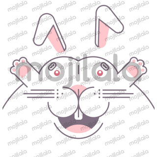 A cotton-white rabbit with a wide variety of expressions. Be careful, he has red eyes... like The Terminator!