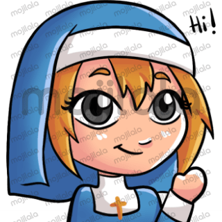 She may be a nun be she is the cutest nun you will ever meet.