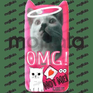 cute cat in a phone accessory