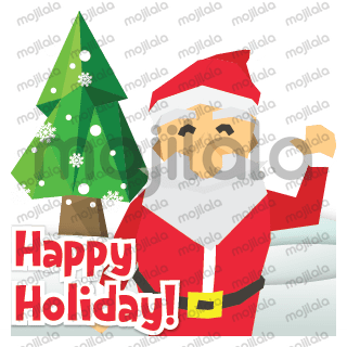 Christmas is coming! Try the new look of The Polygon Santa Claus sticker. HO HO HO!