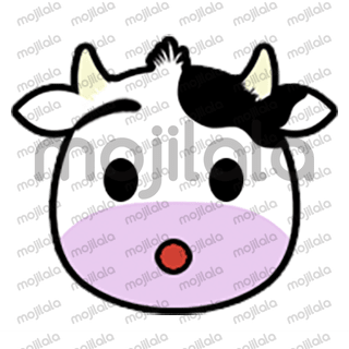80 emojis of cute little cow! :) Have fun with them!