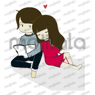 Cute, adorable & fun couple stickers.
