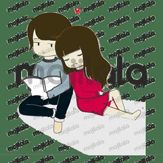 Cute, adorable & fun couple stickers.