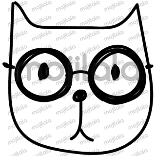 the very unique and cool cat doodles in a sticker pack combine the most important emotions. From now on you can say it with a cat head. 