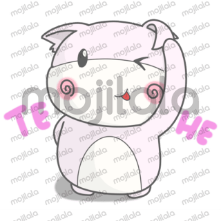 Cute pink bear comes adorn your day