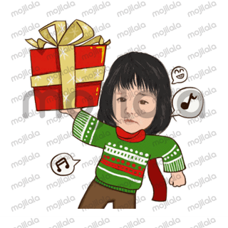 funny and cute Christmast sticker