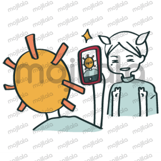 Sunny and Big Sun are couple. They both afraid of summer heat. Enjoy your sunny day with these stickers!