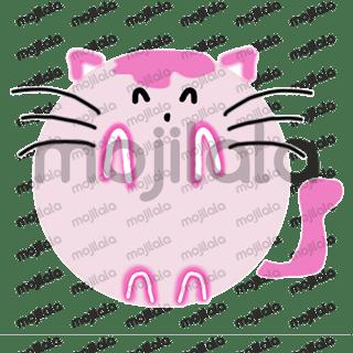 cute pink round kitty cat emojis