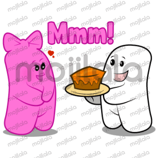 Malvin and Moni the cute couple of marshmallows that will make your conversations sweet and funny.